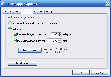 Automatic image removal options